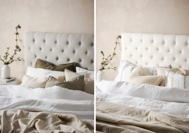 pehmustettu sängynpääty